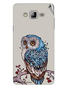 Miicreations Mobile Skin Sticker For Samsung Galaxy On7,Owl