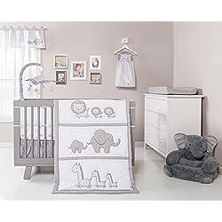 Trend Lab Safari Chevron 3 Piece Crib Bedding Set, Black/White