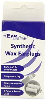 Ear Safe Wax Earplug Pair