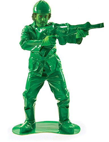 Toy Green Army Man Fancy Dress Costume (And Gun)