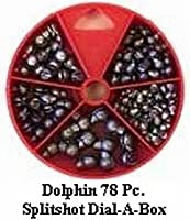 Dolphin 79 Pc. Split Shot Sinker Assortment Dial-A-Box by South Bend