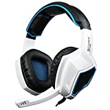 Xbox One PS4 Headset, Yanni Sades SA920 3.5mm Wired Over Ear Stereo Gaming Headphones with Microphone for PC MAC Computer Gamers Smart Phones Mobiles iPad iPhones(White Black)