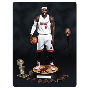 NBA Lebron James Miami Heat White Jersey Real Masterpiece Figure by NBA LeBron James Miami Heat