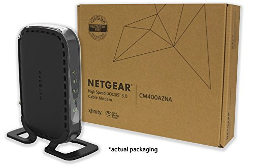 NETGEAR CM400 (8x4) Cable Modem DOCSIS 3.0 Certified for Comcast XFINITY, Time Warner Cable, Cox, Charter & more (CM400-1AZNAS) (Docsis 3 Cable Modem compare prices)
