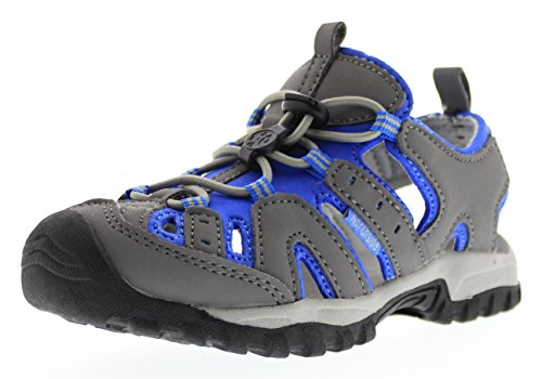 Northside Burke II Athletic Sandal Gray/Blue 3 M US Little Kid