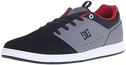 DC Men\'s Cole Signature Skate Shoe, Grey/Black/Red, 13 M US