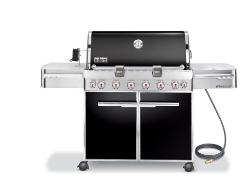Weber 1881001 Summit E-650 Grill, Natural Gas, Black
