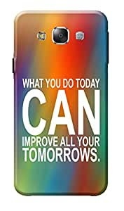 Samsung Galaxy E7 Cover, Premium Quality Designer Printed 3D Lightweight Slim Matte Finish Hard Case Back Cover for Samsung Galaxy E7 + Free Mobile Viewing Stand