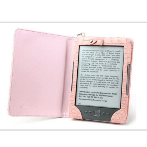Koolertron (TM) Kindle Lighted Leather Case Cover WITH COMPACT READING LIGHT KINDLE 4 4th