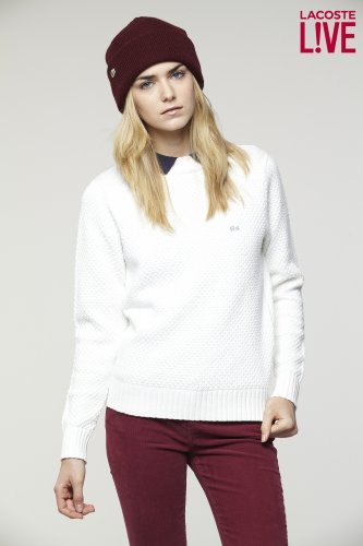 L!VE Textured Crewneck Sweater