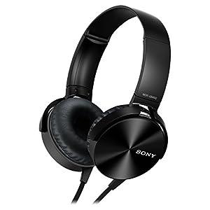 Sony MDR-XB450APB Extra-Bass Kopfhörer mit integriertem Mikrofon schwarz