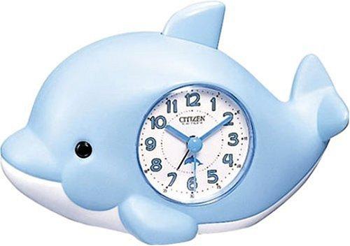 CITIZEN (シチズン) 目覚し時計 起きてイルカ? 4SE482-004
