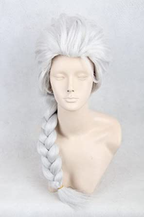 Hiliss Cosplay Costume Wig Party Hair for Elsa (Silver White)