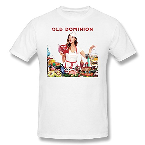SFMY Men's Old Dominion Meat And Candy Album T-Shirts XS White (Kings Dominion Tickets compare prices)