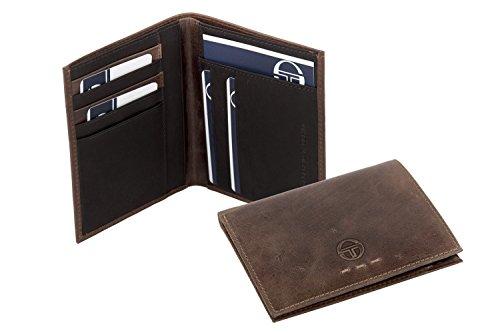 Portafoglio uomo verticale SERGIO TACCHINI cognac porta carte in pelle A5258