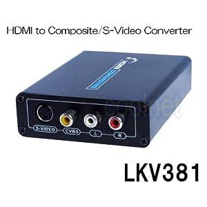 【クリックでお店のこの商品のページへ】LKV381 HDMI to Composite/S-Video Converter / HDMI出力をS端子、コンポジット出力へ変換