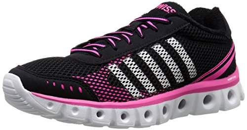 K-Swiss Women's X Lite CMF Athletic Shoe, Black/Neon Pink, 8.5 M US