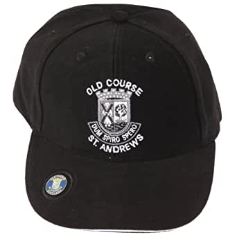 Old Course St Andrews Golf Baseball Cap With Adjustable Strap - 5 Colours (One Size) (Black)