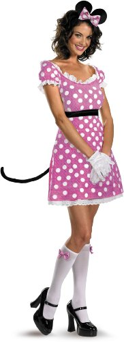 Disguise Pink Minnie Mouse Adult Costume Large (12-14) Pink