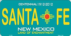 Amazon Com Santa Fe New Mexico Teal State Background
