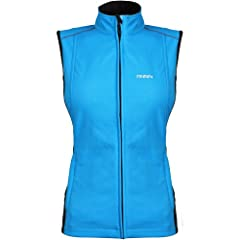Mobile Warming Jackii Ladies Sports Bike Motorcycle Vest - Light Blue by Mobile Warming