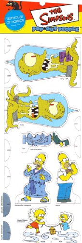 TREEHOUSE OF HORROR * Episode 7F04 * The Simpsons POP-OUT PEOPLE Characters & Background Set from Dark Horse Comics