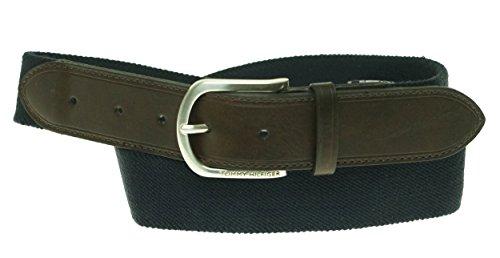 Tommy Hilfiger Mens Navy Blue Canvas Belt 08-4293 (Large (38-40))
