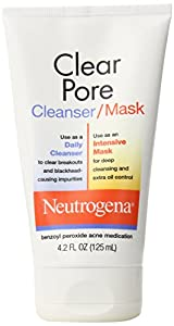 Neutrogena Clear Pore Cleanser/Mask, 4.2 Ounce (Pack of 6)