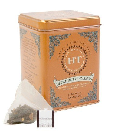 Harney and Sons Decaf Hot Cinnamon , Decaf Flavored Black 20 Sachets per Tin