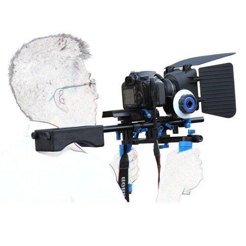SunSmart Pro DSLR Rig Movie Kit supporto della spalla Rig con segue il fuoco e Matte Box per Tutti DSLR e video Videocamere