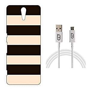 Designer Hard Back Case for Sony Xperia C5 with 1.5m Micro USB Cable