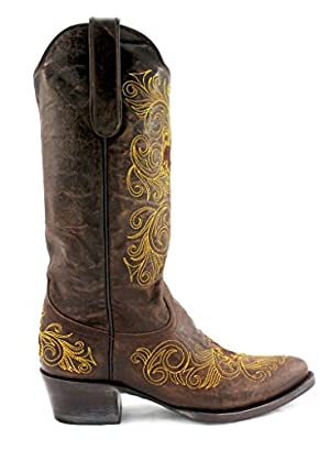 University of Wyoming Ladies Leather Boots