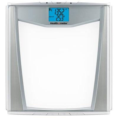 Health o Meter BFM081DQ-63 Body Fat Scale, Glass with Silver Accents