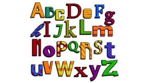 Multi letras del alfabeto color 2 - Vivero de dimensiones murales ...