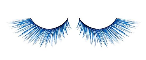 Zink Color Cobalt Blue With Sparkling Gold Glitter False Eyelashes E858 Costume (Blue False Eyelashes compare prices)