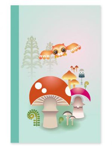 International Arrivals Magical Mushrooms Quad Uno Journal, 5.375 x 8.25 x 1.125 Inches (118-92B)