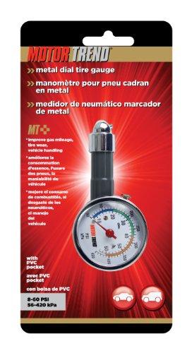 Motor Trend TGM-0128 Metal Dial Tire Pressure Gauge