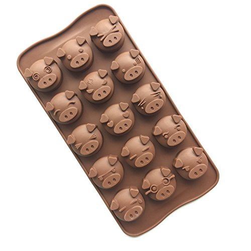 Cherryard Pig-Man Vivid Expression Silicone Chocolate Mold Mini Cake Mold Candy Mold Baking Mold (Baking Molder compare prices)