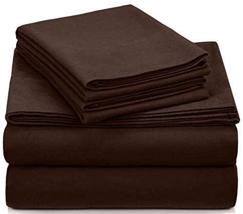 Pinzon Heavyweight Flannel Sheet Set - California King, Italian Roast (Italian Bedspread compare prices)
