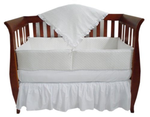 American Baby Company Heavenly Soft Minky Dot 4-Piece Crib Set, White