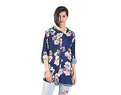 Chique Women's Shirt (navybds_Navy _X-Large)