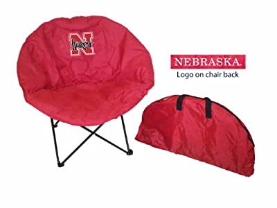 Rivalry Team Logo Design Tailgating Camping Picnics Outdoor Events Nebraska Round Chair