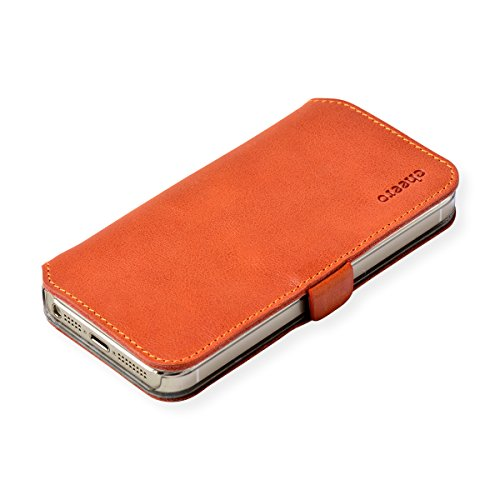 cheero Leather Case iPhone5/5s (Book type) -本革(牛)- (iPhone5/5s, ヴィンテージ ブラウン)