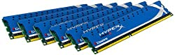 Kingston Technology HyperX 24 GB Kit (6x4 GB Modules) 24 Hexa-Channel Kit 1600 (PC3 12800) 240-Pin DDR3 SDRAM KHX1600C9D3K6/24GX