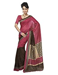 Texclusive Women's Cotton Silk Saree With Blouse Piece (Multi-Coloured)