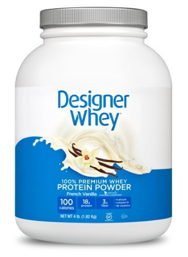 DESIGNER WHEY 100% Premium Whey Protein Powder, French Vanilla, 4 Pound Container by Designer Whey (English Manual)