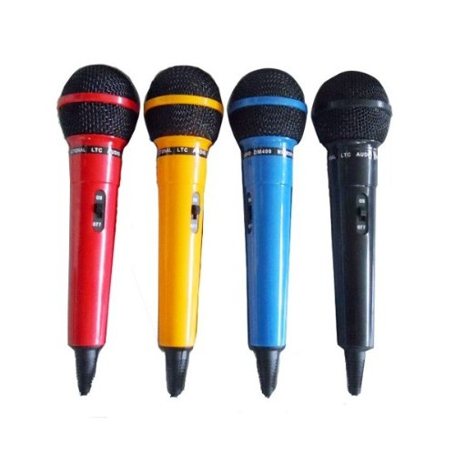 Ibiza DM400 Assorted 4 Dynamic microphones Black / blue / red / yellow