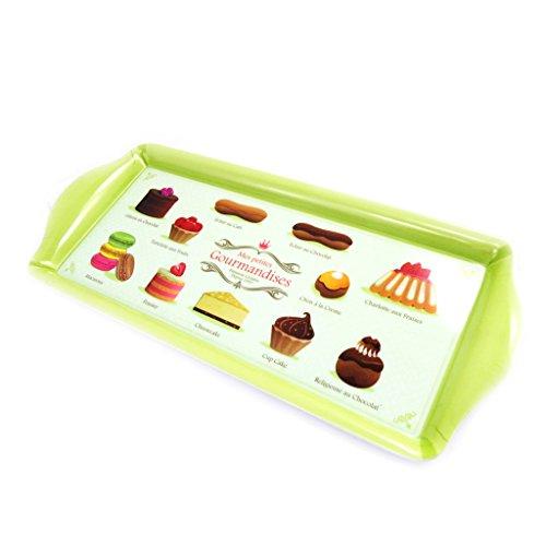 Les Trésors De Lily [L9013] - Plateau à cake 'Mes Petites Gourmandises' vert