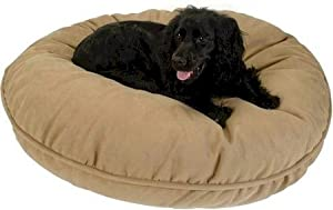 Snoozer Luxury Round Pillow Pet Bed, Small, Saddle