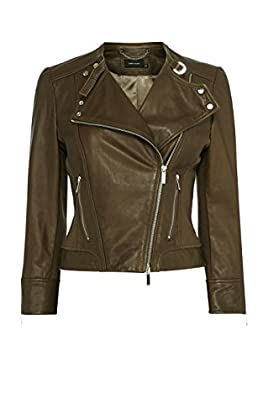 Italian leather biker jacket